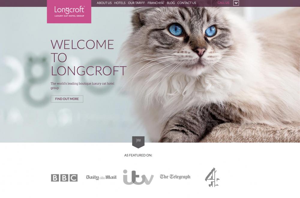 Award winning website | Longcroft Luxury Cat Hotel