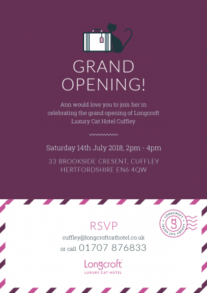 Grand Open day | Longcroft Luxury Cat Hotel Cuffley